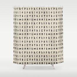 Nordic Runes // Whale Bone Shower Curtain