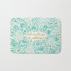 Adventure is Calling – Turquoise & Gold Palette Bath Mat