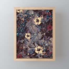 dark flowers #flower #flowers Framed Mini Art Print