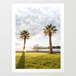 Morning Run With a View Art Print
