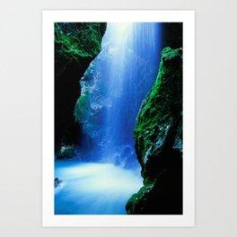 Waterfall-Orridi di Rio Basino Art Print