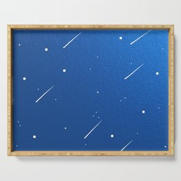 Shooting Stars in a Clear Blue Sky Serving Tray