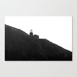 Point Sur Lighthouse in Black and White Canvas Print