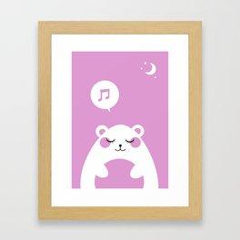 Sound Asleep Bear Framed Art Print