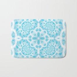 Blue Square Mandala Bath Mat