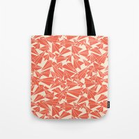 aviation Tote Bags featuring School Yard Aviation Solid by Dianne Delahunty