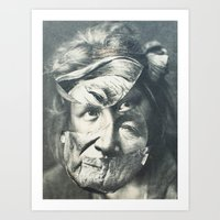 Faces of the Past I Art Print