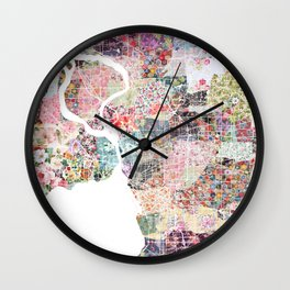 Buffalo map Landscape Wall Clock