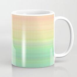 Abstract Pastel Rainbow II Colored gradient stripes Coffee Mug