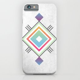 Abstract geometric indigenous symbol iPhone Case