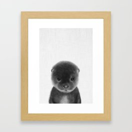 Cute Otter Framed Art Print