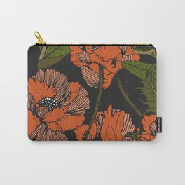 Autumnal flowering of poppies Carry-All Pouch