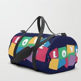 Love, geometric Duffle Bag