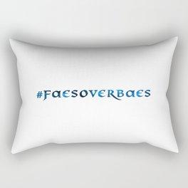 #FAESOVERBAES - Blue Rectangular Pillow
