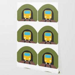 Underground Tunnel Train Emoji Wallpaper