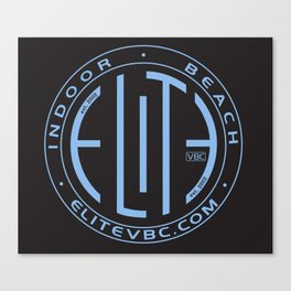 Elite White/Powder Circle Logo Canvas Print