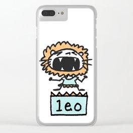 Rawwrrrr! says the Leo. Clear iPhone Case
