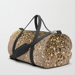 Sparkling Gold Brown Glitter Glam #1 (Faux Glitter) #shiny #decor #art #society6 Duffle Bag