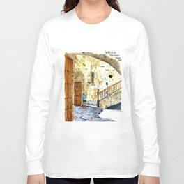 Woman Enjoying the Sun - Castillo de la Real Fuerza, Habana Vieja, Cuba Long Sleeve T-shirt