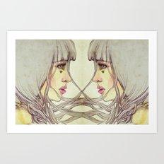 Twins Entwined Art Print