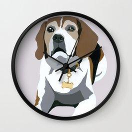Seamus on grey Wall Clock