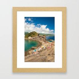 Sunbathing at the islet Framed Art Print