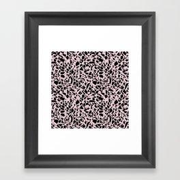 Terrazzo Spots Black on Blush Repeat Framed Art Print