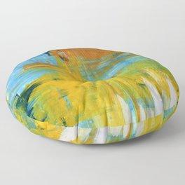 Sunshine Blue Skies Painting - Poster or Prints by Robert Erod Floor Pillow