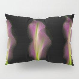 Abstract Purple Calla Lily on Black Background-Fleur Blur Series Pillow Sham
