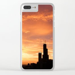 Chicago Sunset Clear iPhone Case