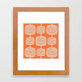 Mid Century Modern Atomic Rings Pattern 771 Orange Framed Art Print
