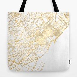 BARCELONA SPAIN CITY STREET MAP ART Tote Bag