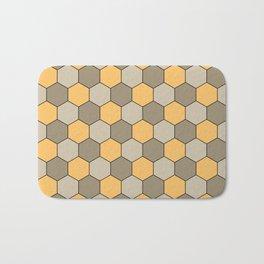 Honeycombs op art beige Bath Mat