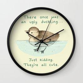 Ugly Duckling Wall Clock