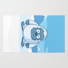 Cute Yeti Cartoon Character Rug