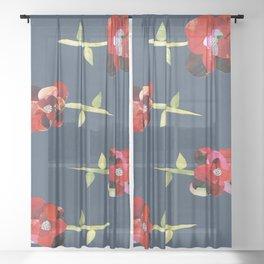 Boldly Bloom Sheer Curtain