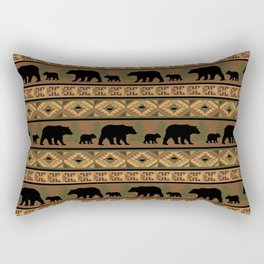 Black Bear and Cub Rectangular Pillow