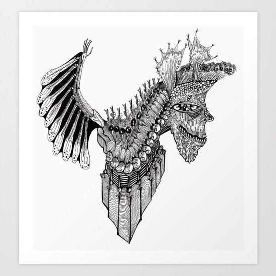 Penti-Bat Art Print