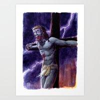 Zombie Messiah Art Print