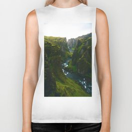 River in the Valley (Color) Biker Tank