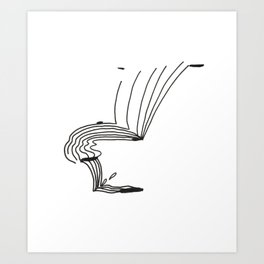 Lines That Fall Art Print