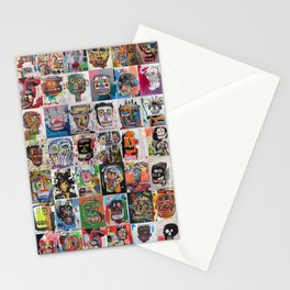 Basquiat Faces Montage Stationery Cards