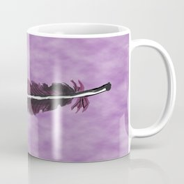 Watercolor Purple Feather with Spots  Coffee Mug