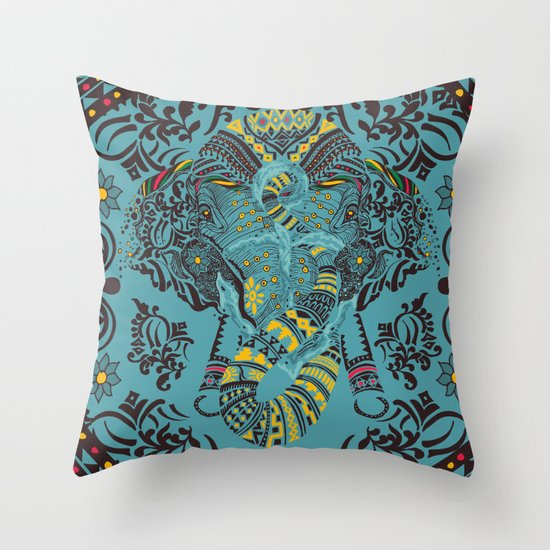 Anchor and Elephant  Throw Pillow