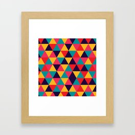 Colorful Triangles (Bright Colors) Framed Art Print