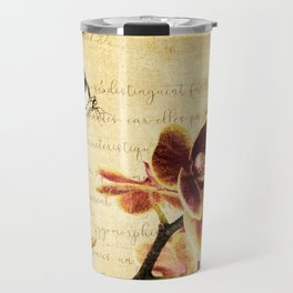 Orchid Flower Butterfly Modern French Country Cottage Art A183 Travel Mug