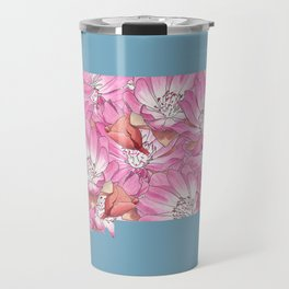 Montana in Flowers Travel Mug