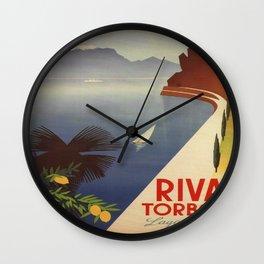 Vintage poster - Riva Torbole Wall Clock