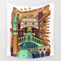 venice Wall Tapestries featuring Venice by Aleksandra Jevtovic