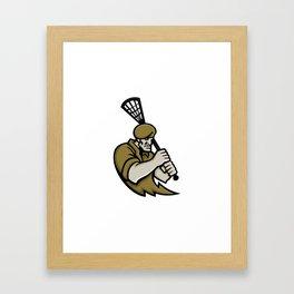 Commando Lacrosse Mascot Framed Art Print